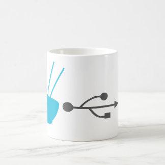 ヌードルの入力効率システム コーヒーマグカップ