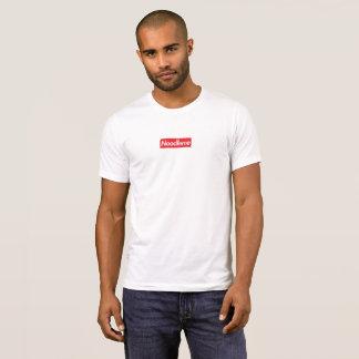ヌードル箱のロゴのティー Tシャツ