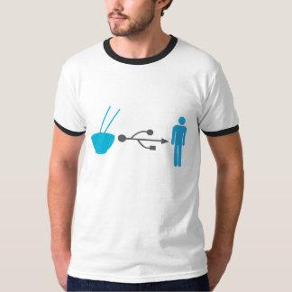 ヌードルUSBによって私 Tシャツ