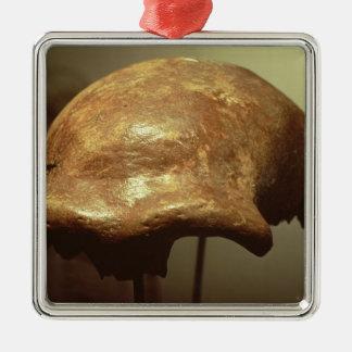 ネアンデルタール人の頭蓋 メタルオーナメント