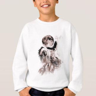 ネイティブアメリカンくまのオオカミのワシ スウェットシャツ