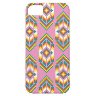 ネイティブアメリカンのデザインのピンク iPhone SE/5/5s ケース