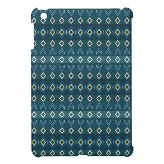 ネイティブアメリカンのデザインの小型青いビーズの一見のipad iPad mini case