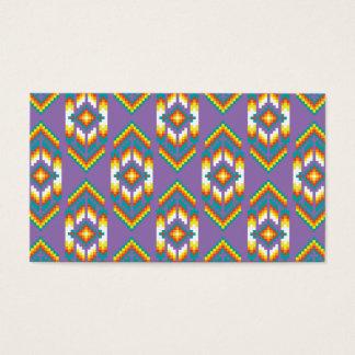 ネイティブアメリカンのデザインの紫色 名刺