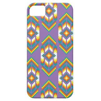 ネイティブアメリカンのデザインの紫色 iPhone SE/5/5s ケース