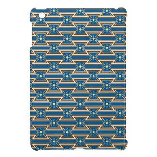 ネイティブアメリカンのデザイン#2の青のiPad Miniケース iPad Miniカバー