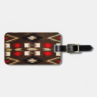 ネイティブアメリカンのナバホー人の種族のデザインのプリント ラゲッジタグ