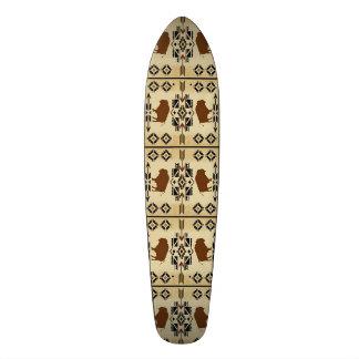 ネイティブアメリカンのバッファロー毛布Scateboard 21.6cm スケートボードデッキ