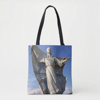 ネイティブアメリカンの女性の彫像のトートバック トートバッグ