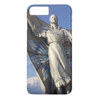 ネイティブアメリカンの女性の彫像 iPhone 8 PLUS/7 PLUSケース