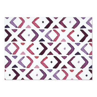 ネイティブアメリカンの水彩画パターン カード