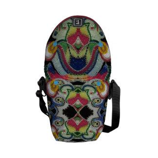 ネイティブアメリカンの玉を付けられたバッグ メッセンジャーバッグ
