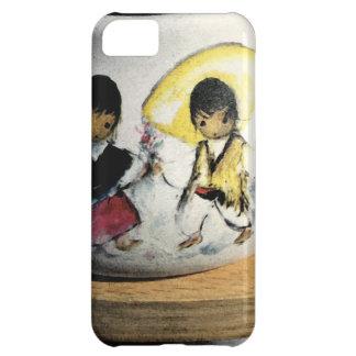 ネイティブアメリカンの男の子および女の子のナバホー人陶器 iPhone5Cケース
