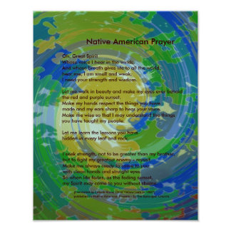 ネイティブアメリカンの祈りの言葉 ポスター