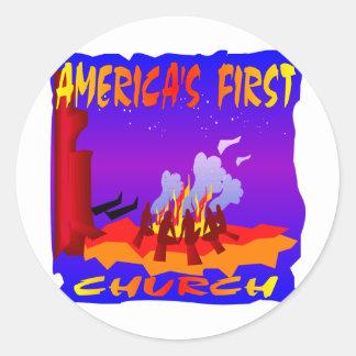 ネイティブアメリカン、アメリカ大陸の最初教会 ラウンドシール