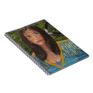 ネイティブアメリカンBirdwoman及びモットーのノート ノートブック