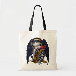 ネイルのハートはゴシック様式天使の妖精を袋に入れます トートバッグ