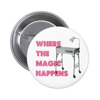 ネイルの技術のネイルアーチストの魔法ボタン 5.7CM 丸型バッジ