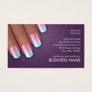 ネイルアーチストグラデーションなビジネス及び暗闇のアポイントメントカード 名刺