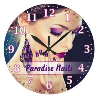 ネイルサロンのPersonalizableの柱時計 ラージ壁時計