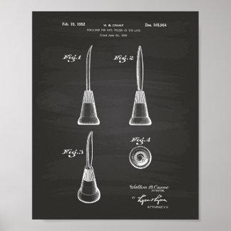 ネイル1952のパテントの芸術の黒板のための容器 ポスター