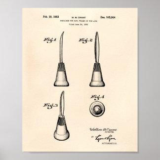 ネイル1952のパテントの芸術古いPeperのための容器 ポスター
