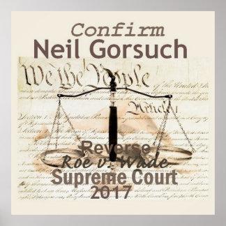 ネイルGORSUCHの最高裁判所ポスタープリント ポスター