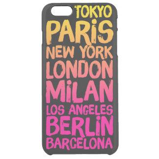 ネオンお気に入りのな都市 クリア iPhone 6 PLUSケース