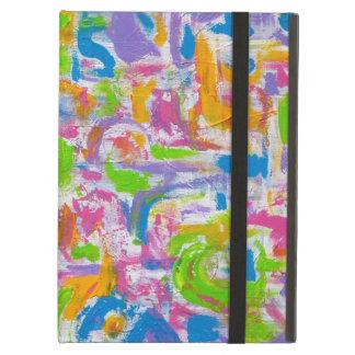 ネオンの抽象芸術-抽象美術ブラシストローク iPad AIRケース