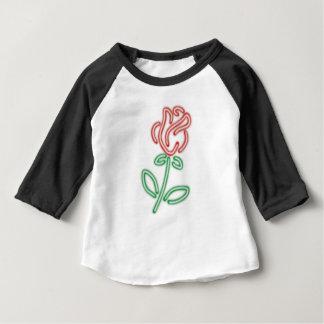 ネオンは、美しいおよび獣のワイシャツのギフト上がりました ベビーTシャツ
