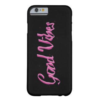 ネオンよい感情の黒い及びピンクの箱 BARELY THERE iPhone 6 ケース
