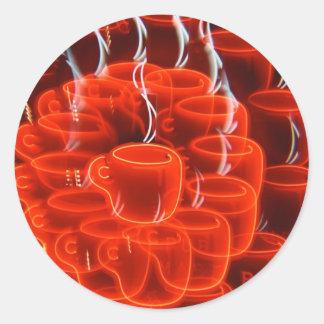 ネオンコーヒーカップの狂気 ラウンドシール
