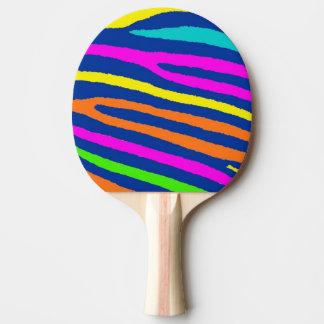 ネオンシマウマのストライブ柄の卓球ラケット 卓球ラケット