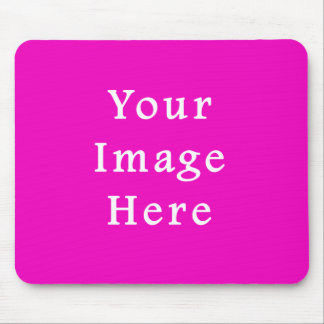 ネオンショッキングピンク色の傾向のブランクのテンプレート マウスパッド