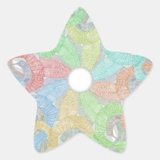 ネオンスカル 星シール
