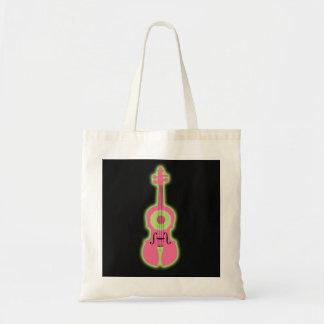 ネオンバイオリンのトートバック トートバッグ