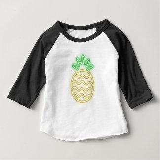 ネオンパイナップルかわいいワイシャツ、付属品、ギフト ベビーTシャツ