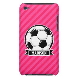 ネオンピンクのストライプのサッカーボール Case-Mate iPod TOUCH ケース