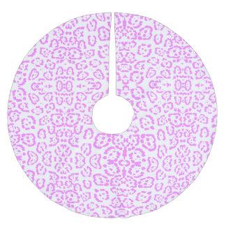 ネオンピンクのチータのアニマルプリント ブラッシュドポリエステルツリースカート