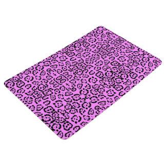 ネオンピンクのヒョウのプリント動物パターン フロアマット