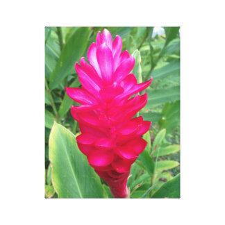 ネオンピンクの花 キャンバスプリント