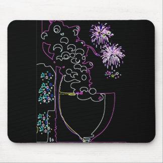 ネオンマウスパッドのワインのお祝い マウスパッド
