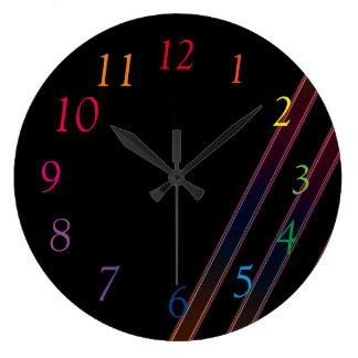 ネオンライト ラージ壁時計