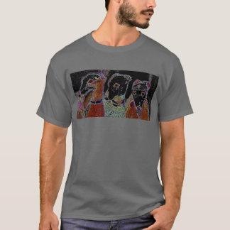 """ネオンライト""""刺繍"""" Tシャツ"""