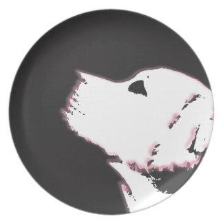 ネオンラブラドール ディナー皿