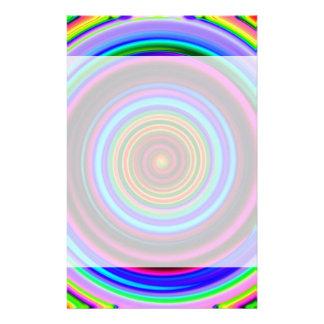 ネオンレトロの螺線形の円パターン 便箋
