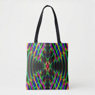 ネオンレーザー光線のサイケデリックな抽象芸術 トートバッグ