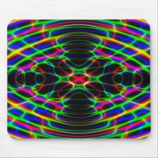 ネオンレーザー光線のサイケデリックな抽象芸術 マウスパッド