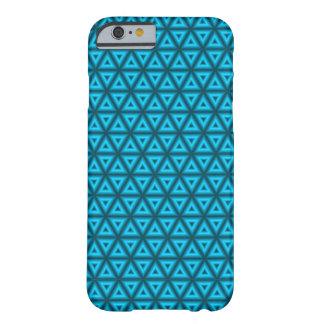ネオン三角形の電話箱(青い) BARELY THERE iPhone 6 ケース