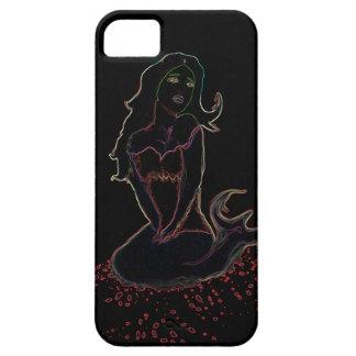 ネオン人魚の電話カバー iPhone SE/5/5s ケース